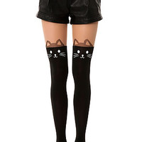 Intimates Boutique Tights Cat in Black