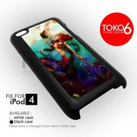 AJ 1876 Beauty Mermaind Painting - iPod 4/4s Case