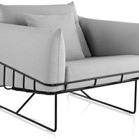wireframe lounge chair
