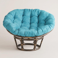 Porcelain Micro Suede Papasan Chair Cushion | World Market