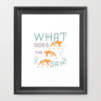 FOX by Monika Strigel and NIKA Framed Art Print by Nika