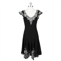 J Kara Beaded Dress with Handkerchief Hem at Von Maur