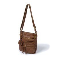 San Francisco Faux Leather Crossbody Bag  | Icing