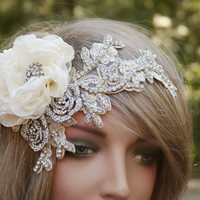 Wedding Headband, Rhinestone Headband, Wedding Hair Accessories, Bridal Headband, Crystal Headband, Headband Headpiece