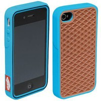 Vans Brown Blue Silicone Waffle Shoe Case Cover for Apple iPhone 4 4s Vans Style