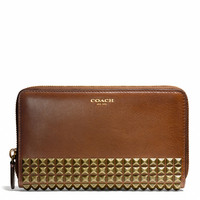 legacy continental zip wallet  in studded leather