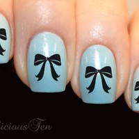 Elegant Bows Art Water Nail Wraps Transfer Decal 21pcs St8063