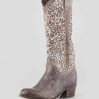 Deborah Studded Vintage Leather Boot, Gray - Frye - Gray