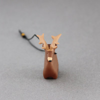 reindeer tree decoration polymer clay reindeer miniature christmas ornament animal figurine