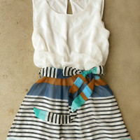 Swing & Stripe Dress [3882] - $38.00 : Vintage Inspired Clothing & Affordable Dresses, deloom | Modern. Vintage. Crafted.
