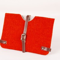 Supermarket: Harris Tweed Orange Kindle/ Nook/ Kobo Sleeve from breagha