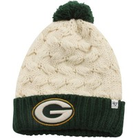 '47 Brand Green Bay Packers Ladies Matterhorn Cuffed Beanie - Natural/Green