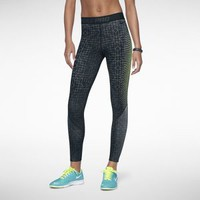 Nike Pro Printed Hyperwarm 2 Women's Tights - Black