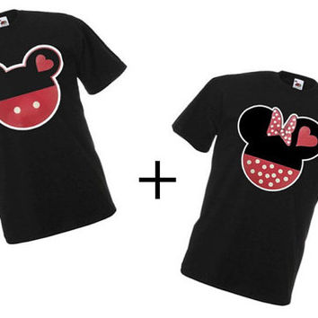 Mickey And Minnie Couples Shirts Minnie And Mick...