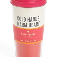 kate spade new york 'cold hands' thermal travel mug | Nordstrom