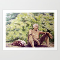 Papa, miss you! Art Print by Vargamari