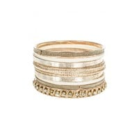 Gold and Cream Bangles