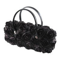 AS511TG Rose Handbag Eyeglass Case (Black)