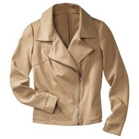 Mossimo® Women's Ponte Zippered Front Moto Jacket - Assorted Colors