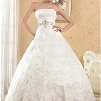 Classic Ball Gown Strapless Empire Lace Wedding Dress