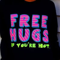 Free Hugs Long Sleeved T-Shirt. Customize To Size And Color.