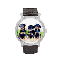 Doberman Puppies Wristwatch