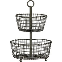 Two-Tier Basket in Serving Baskets | Crate&Barrel