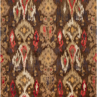 Banshee Collection 100% New Zealand Wool Area Rug in Dark Chocolate and Saffron design by Surya