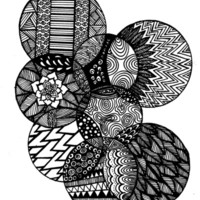 Sharpie Circles Art Print by Kayla Gordon