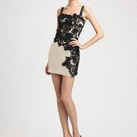 Dolce & Gabbana - Floral Lace Appliqué Cocktail Dress - Saks.com