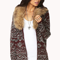 Adventurer Faux Fur-Trimmed Cardigan
