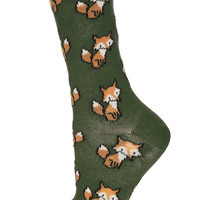 Forest All Over Foxes Sock - Tights & Socks - Clothing - Topshop USA