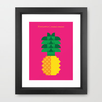 Fruit: Pineapple Framed Art Print by Christopher Dina