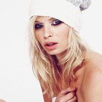 Wildfox Couture Ballroom Layered Beanie in Silver