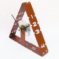 Portal Desk Clock I (Warm Caramel) Custom Colors Available