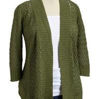 Old Navy Womens Plus Linen Blend Crochet Cardigans