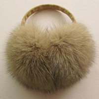 Fox Fur EAR MUFFS by taleofcity1025