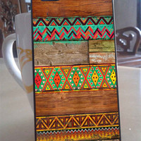 Indian Wood Aztec for iPhone 4, iPhone 5, Samsung S3, Samsung S4 case