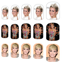 Miley Cyrus Nail Art Decals by NailSpin on Etsy