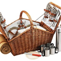 One Kings Lane - Gifts for the Hostess - London Huntsman Basket for 4, Willow