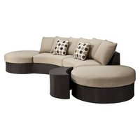 Atlantis 3-Piece Wicker Patio Sectional Seating Furniture Set