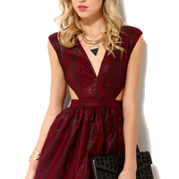 Cutout Snake Print Mini Dress