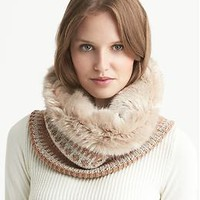 Fair Isle Faux-Fur Neckwarmer