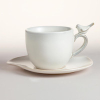 Bird Cups & Saucers, Set of 4 | World Market