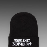 UNIF Your Shit Beanie in Black