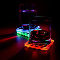 Radioactive Periodic Table Elements Glowing Coaster Set