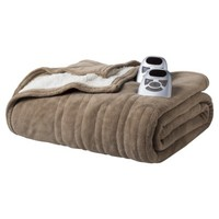 Biddeford Heated Microplush and Sherpa Blanket