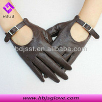 Source Lady fashion sheepskin scoop-back belt short leather gloves on m.alibaba.com