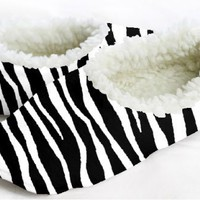 Snoozies Hot Zebra Footie