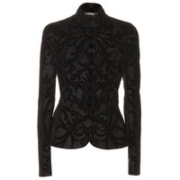 Alexander McQueen FLOCKED WOOL AND CASHMERE-BLEND JACKET